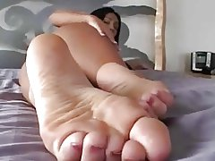 Hot Feet Hot Masturbation